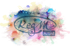 Reg M Art Studio Mobile Logo